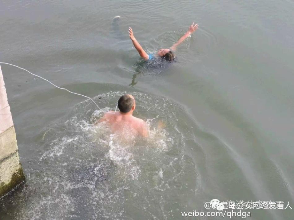 女子轻生跳河 男子咬绳跳水相救 - 双梅 - 张静华