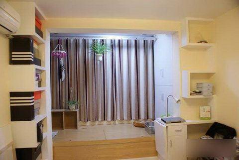 老房改造效果图 50平米一室一厅装修效果图