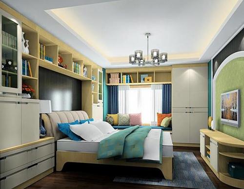 床头靠书柜设计效果图