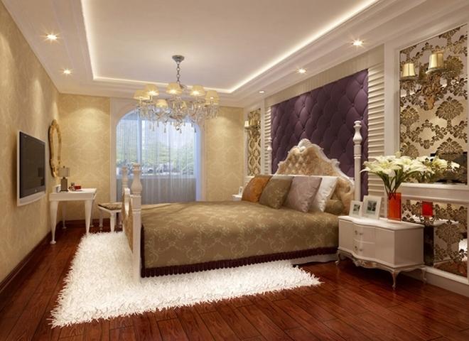 欧式风格装饰的房间仍选用线条繁琐