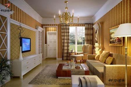 客厅吊顶装修案例 画龙点睛有创意