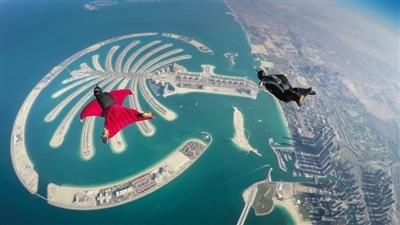 迪拜棕榈岛俯瞰图