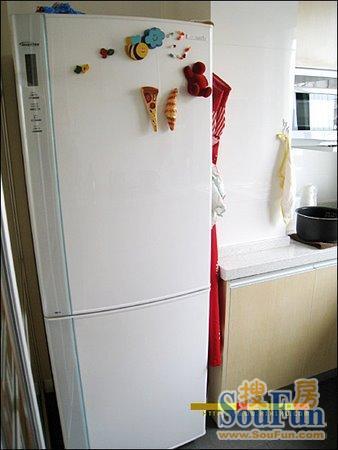 宜家风格装修效果图:冰箱,以后贴上照片啥的.