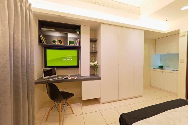 两间单身公寓面积都26平方米,想打通做一室一厅一卫一厨的装修如何