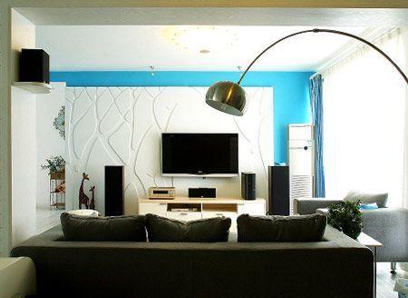 电视背景墙设计图精选 给客厅增加光彩-装修图网-装修