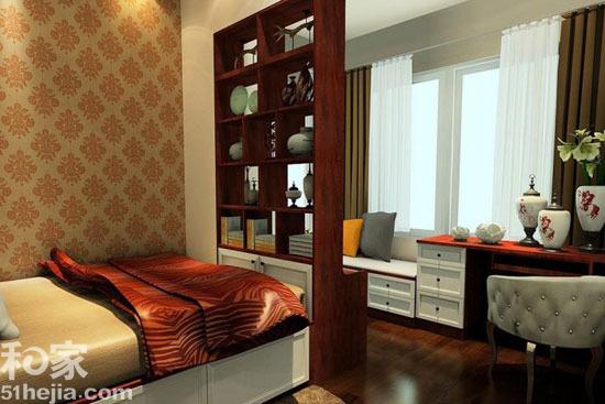 小户型卧室飘窗装修设计效果图