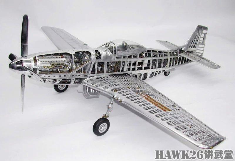 制作的飞机模型